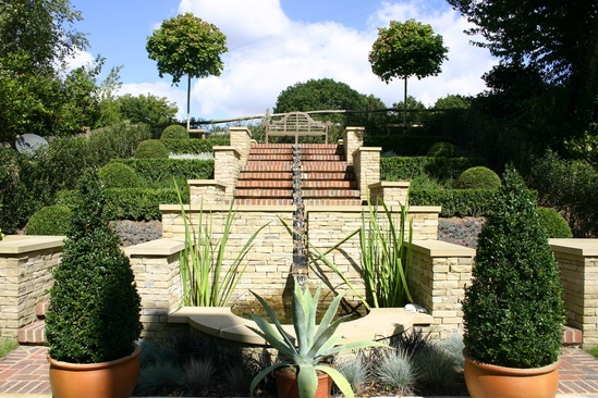 Terrace with rill, Stonegate, East Sussex