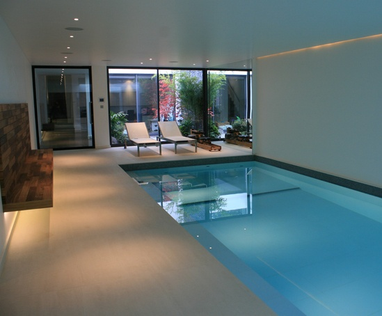 Indoor underground pool for Chelsea town house