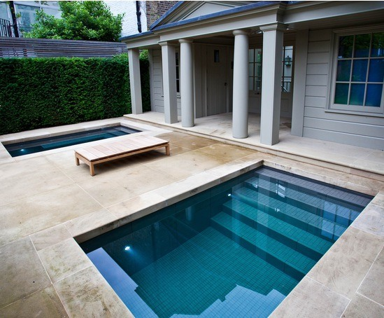 Twin spa plunge pools victorian villa notting hill for Good cheap pools