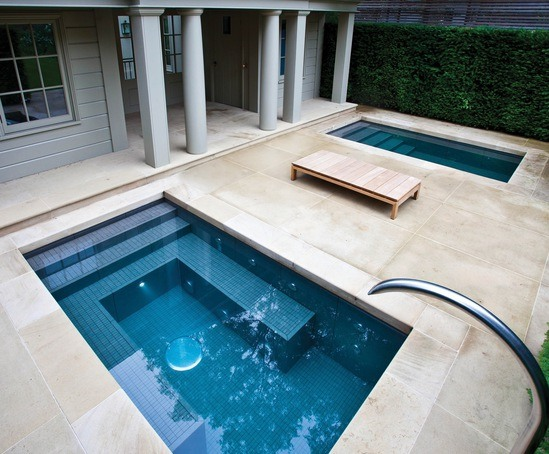 Twin spa plunge pools victorian villa notting hill for Garden plunge pool uk