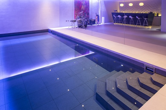 Award winning subterranean pool and leisure area london for Product design companies london
