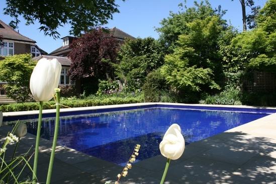 Sapphire outdoor swimming pool london swimming pool for Outdoor swimming pool design uk