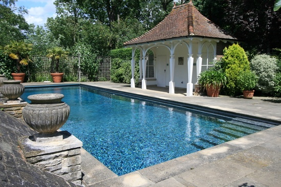 Domestic outdoor pool refurbishment london swimming pool for Domestic swimming pool design