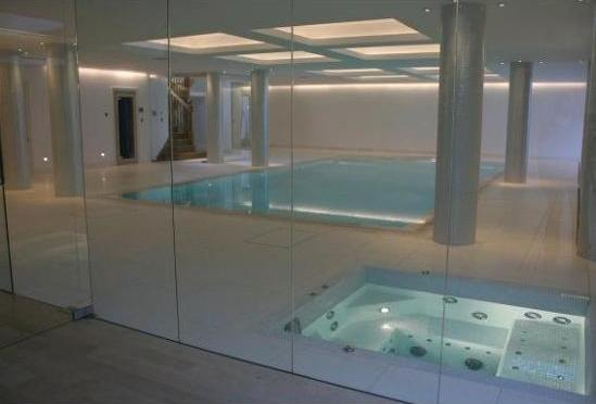 Spa feature within underground wellness area london for Product design companies london