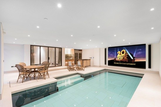 Luxury pool with a moving floor