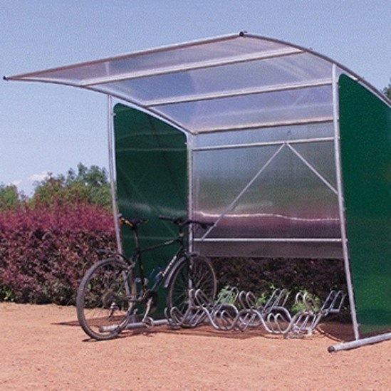 Full Bike Shelters : Durlston flat back cycle shelter nbb outdoor shelters