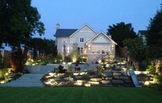 Bespoke garden design and installation for luxury home