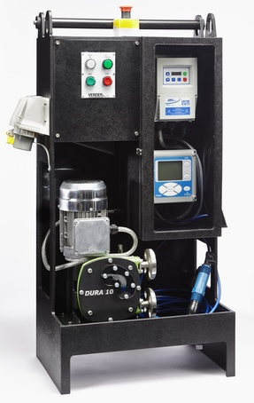 Packaged mobile lime dosing system