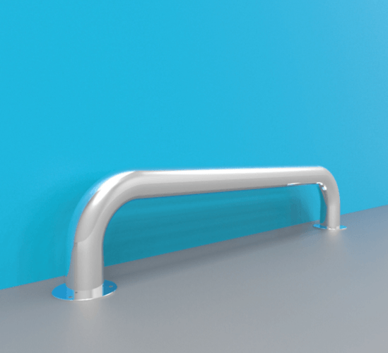 8600 series crash rails for wall protection