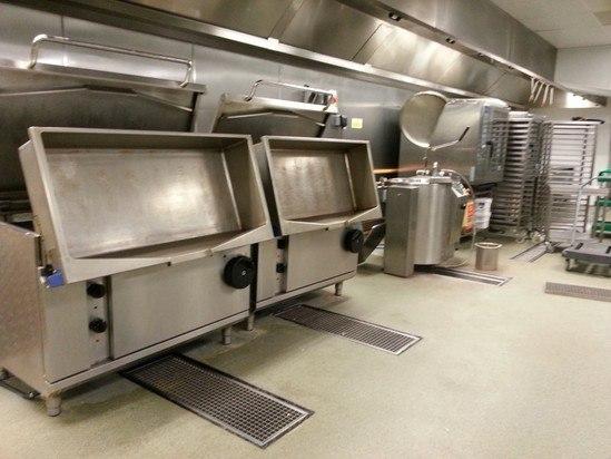 Channel floor drainage for Za Za Bazaar kitchen
