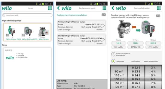 App screenshots - Android version