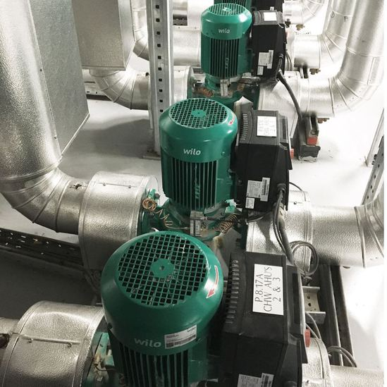 Wilo pumps supplied for the Central Bank headquarters