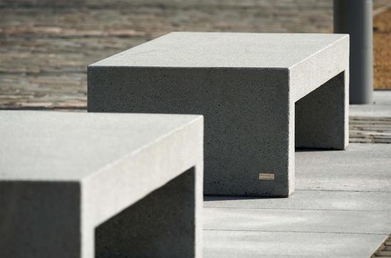 Barana cast stone benches