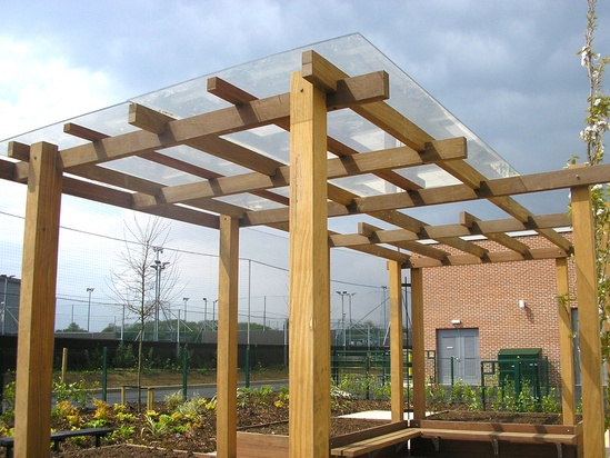 Bespoke timber pergolas woodscape esi external works - Glas pergola ...
