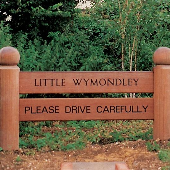 'Please drive carefully' sign, Little Wymondley