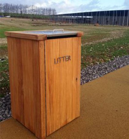 Durable Hardwood LBSH 112 Litter Bin