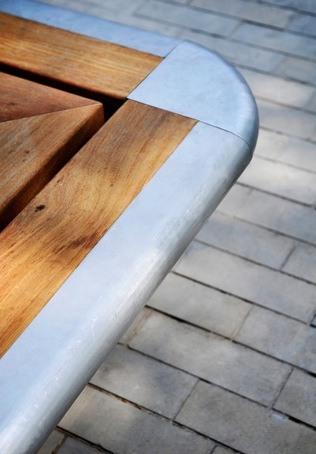 Swindon Hardwood And Stainless Steel Planter Seat