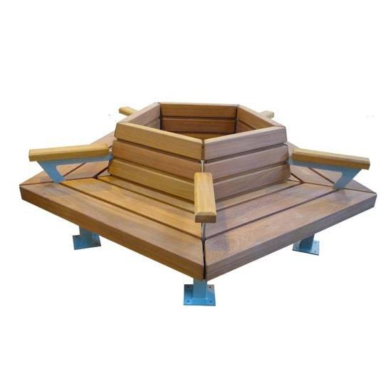 Pentagon timber tree seat
