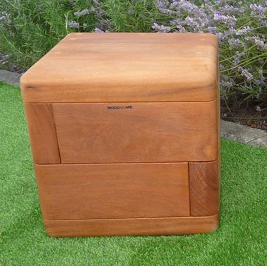 Box Hardwood Timber Cube Seating Woodscape Esi