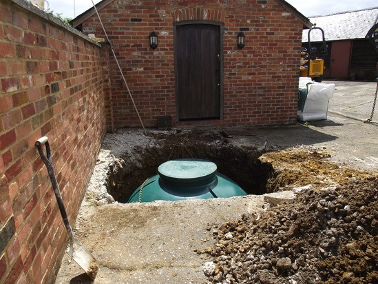 Off mains domestic drainage project awbridge hampshire for Domestic drainage system layout