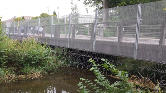 Temporary High Security Fencing For Nato Summit Cardiff