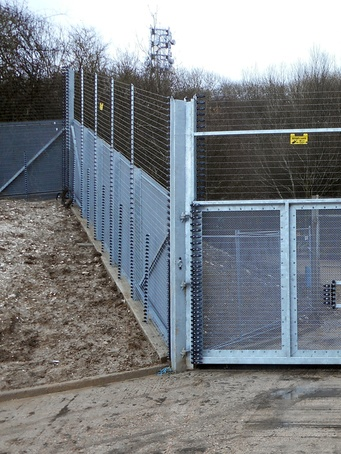 ArmaWeave raked security fencing system