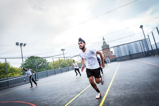 Sports fencing on rooftop MUGA