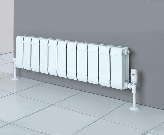 SILL LINE aluminium radiators for very low sill heights