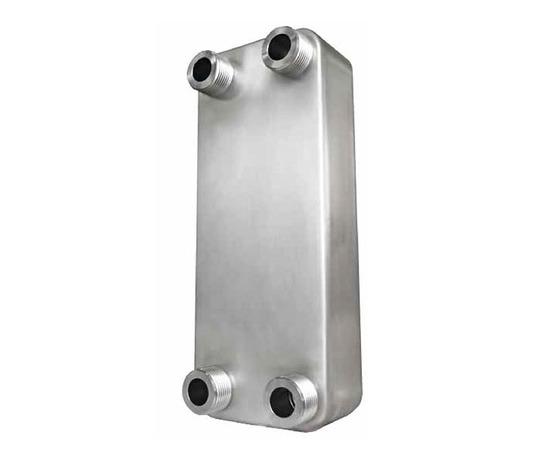 Brazed plate heat exchanger for heat pumps