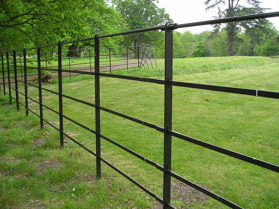 Estate rail steel fencing alpha esi external works