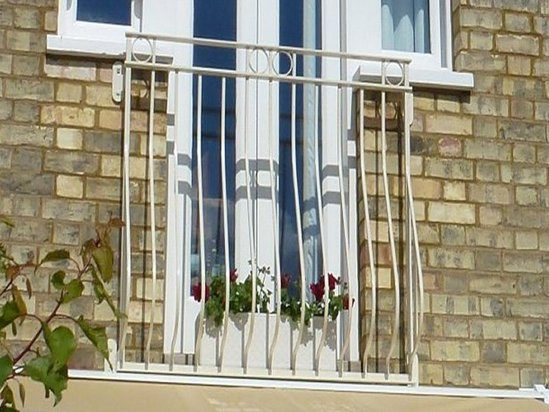 The Bow-fronted style Juliette balcony