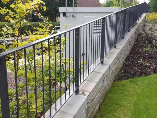 Flat top steel fencing | Alpha Rail | ESI External Works