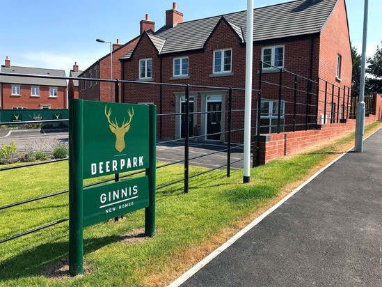 Metal estate railings for new housing development