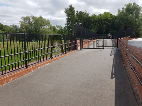 Pedestrian parapet railings - Selly Oak Park