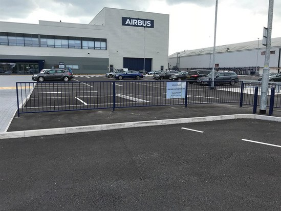 Pedestrian guardrail replaces low level hoop barriers