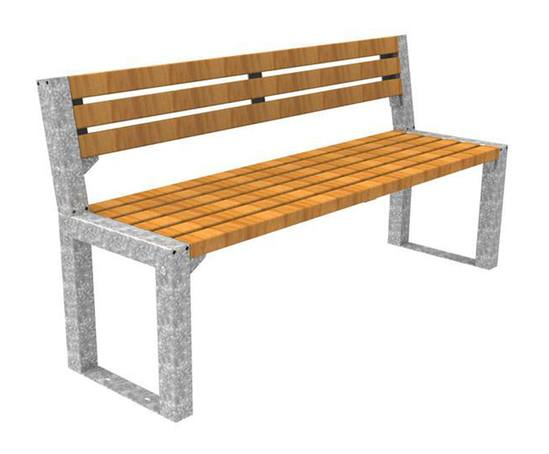 FalcoAcero timber and steel outdoor seat