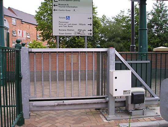 Automatic cantilever sliding security gates avon barrier