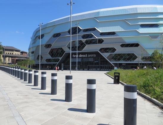 Scimitar PAS 68 Bollards - Stadium protection
