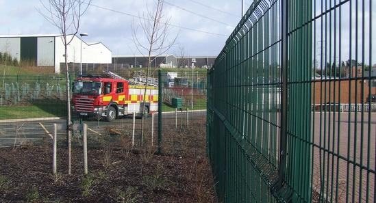 ProGuard rigid mesh fencing, Staffs Fire & Rescue