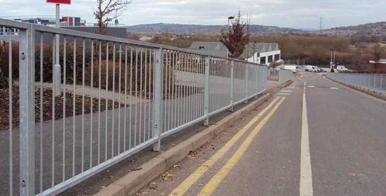 Roadside pedestrian safety railings