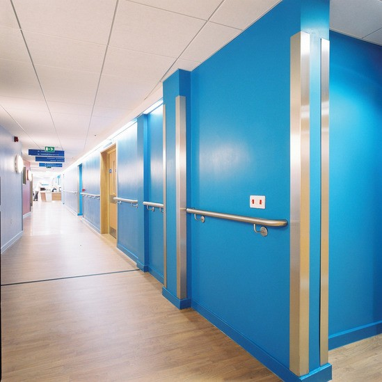 Acrovyn® stainless steel corner protection and handrail