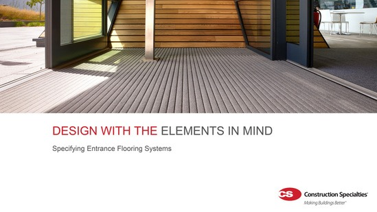 CPD: Specifying entrance flooring systems