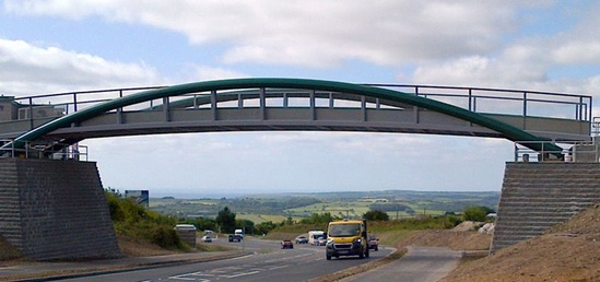 Cycle / bridle bridge installation, Cornwall