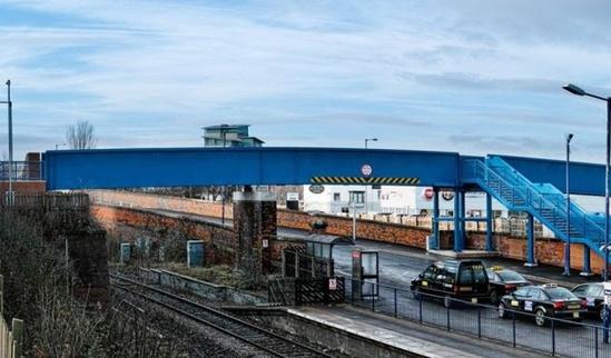 Railway footbridge installed at Thornaby Station