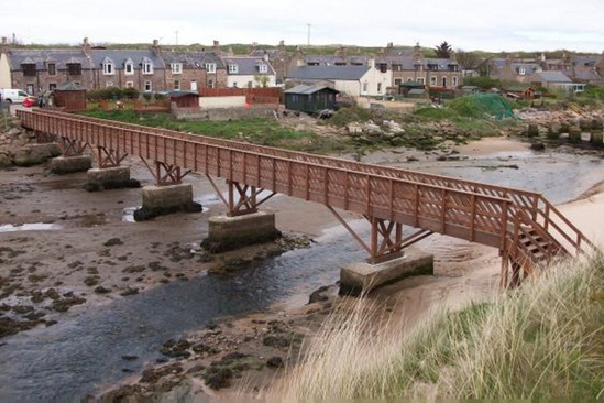 Ladies Bridge installed at Cruden Bay, Aberdeen