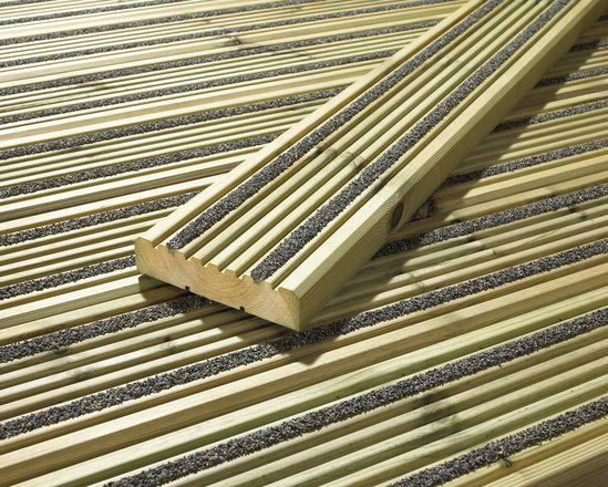 Hi grip excel non slip timber decking cts bridges esi for Garden decking non slip