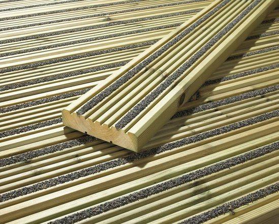 Hi grip excel non slip timber decking cts bridges esi for Softwood decking boards