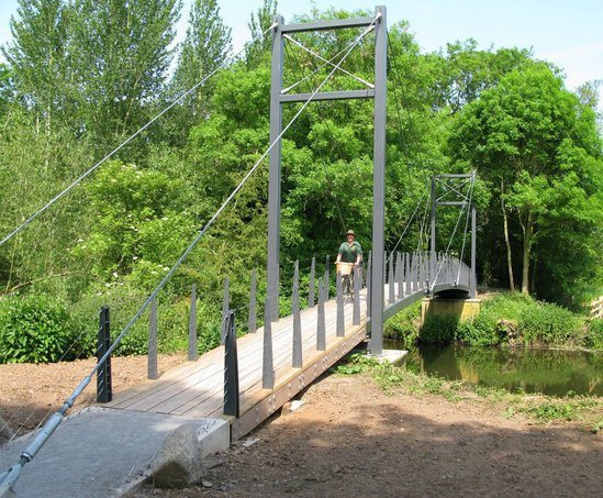 Cable stay bridge, Attingham Park