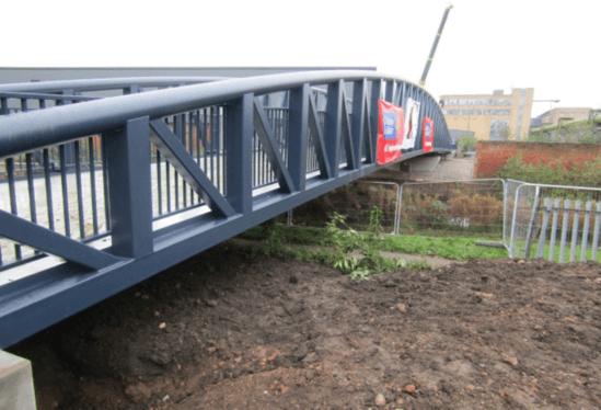 Leicester footbridge, Charter Street