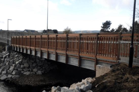 Bridge installed onto new abutments